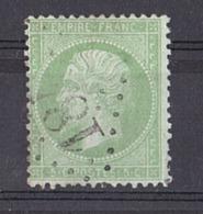 Napoléon III N° 35 (vert Pâle Sur Bleu) - Oblitération GC - B - 1862 Napoleon III