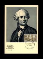 CARTE PREMIER JOUR - Alembert Philosophe Et Mathématicien - Cartes-Maximum