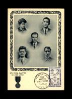 CARTE PREMIER JOUR - Les Cinq Martyrs Du Lycée Buffon - Guerre 39-45 - 1950-59