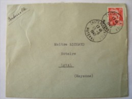 53 CHATEAU GONTIER - Cachet Manuel Du 18-8-1948 - Postmark Collection (Covers)