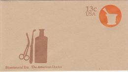 8817- MEDICINE, THE AMERICAN DOCTOR, COVER STATIONERY, UNUSED, USA - Medicina