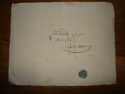 Belle Lettre De Chaalons Sut Marne De 1827 Pour Vidalon Annonay - Marcophilie (Lettres)