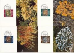 8844- MOSSES AND LICHENS, MAXIMUM CARSD, OBLIT FDC, 4X, 1981, LIECHTENSTEIN - Plants