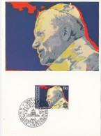 8852- POPE JOHN PAUL 2ND, MAXIMUM CARD, OBLIT FDC, 1983, LIECHTENSTEIN - Papi