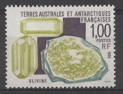 French Antarctic (FSAT), Mineral, Mesotype Or Natrolite, 1989, MNH VF - French Southern And Antarctic Territories (TAAF)