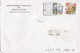 SP-543 BUSTA VIAGGIATA 1993 ASSOCIAZIONE NAZIONALE DEI MUSEI ITALIANI TIMBRO TARGHETTA 100'' NASCITA GIUSEPPE DI VITTORI - 6. 1946-.. Republic