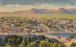 MEXICO - Bird's Eye View Of CIUDAD JUAREZ - Karte Gel.194?, 4C Frankierung, Roter Sonderstempel U.S.Censorship - Mexiko