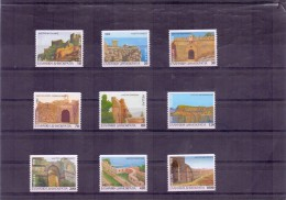 GREECE STAMPS GREEK CASTLES PART I(HORIZONTALLY IMPERFORATE)-7/10/96-MNH- COMPLETE SET - Griechenland