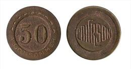 N1605 - France: Jeton De Roulette De Comptoir: Courson: 50 Centimes à Consommer - Francia