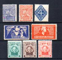 1923   œuvres Culturelles, Entre 107 Et 161*, Cote 71 €, - Periode 1891-1948 (Wilhelmina)