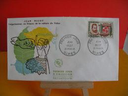 FDC - Jean Nicot - Nîmes 25.3.1961 - 1er Jour - Cote 3 € - 1960-1969