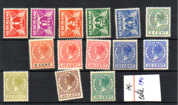 Wilhelmine, Entre 133 Et 151*, Cote 194 €, - Periode 1891-1948 (Wilhelmina)