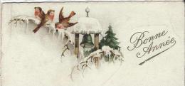 Petite Carte De Voeux/  Circulée/Rouge-Gorges Et Cloche/1931      CVE67 - New Year