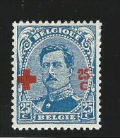 Belgie       OBP      156          *               Ongebruikt  /  Neuf Avec Charniere - 1918 Croce Rossa