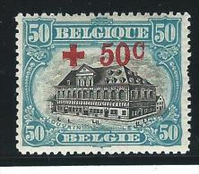 Belgie       OBP      159            *               Ongebruikt  /  Neuf Avec Charniere - 1918 Croce Rossa