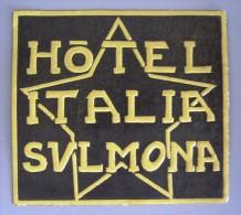 HOTEL ALBERGO PENSIONE MOTEL CAMPING SULMONA ROMA ITALIA ITALY DECAL STICKER LUGGAGE LABEL ETIQUETTE AUFKLEBER - Hotel Labels