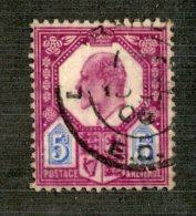 7263x  GB 1902  Scott #134 (o)   (SCV- $10.00)  Offers Welcome! - 1902-1951 (Re)