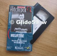 Alfred Hitchcock - Meurtre - K7 Vidéo VHS Noir & Blanc - Version Française (Ed. Atlas) - Occasion - Action, Aventure