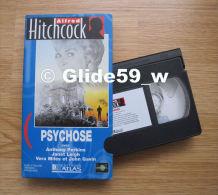 Alfred Hitchcock - Psychose - K7 Vidéo VHS Noir & Blanc - Version Française (Ed. Atlas) - Occasion - Action, Aventure