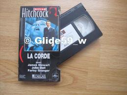 Alfred Hitchcock - La Corde - K7 Vidéo VHS Couleur - Version Française (Ed. Atlas) - Occasion - Action, Aventure
