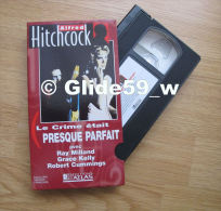 Alfred Hitchcock - Le Crime était Presque Parfait - K7 Vidéo VHS Couleur - Version Française (Ed. Atlas) - Occasion - Action, Aventure