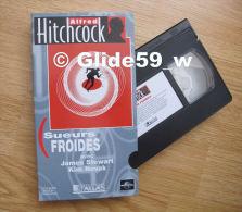 Alfred Hitchcock - Sueurs Froides - K7 Vidéo VHS Couleur - Version Française (Ed. Atlas) - Occasion - Action, Aventure