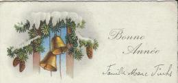 Carte De Voeux/Pommes De Pin Et Cloches/ Non Circulée/ Vers 1930     CVE68 - Nouvel An