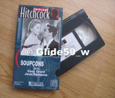 Alfred Hitchcock - Soupçons - K7 Vidéo VHS Noir & Blanc - Version Française (Ed. Atlas) - Occasion - Action, Aventure