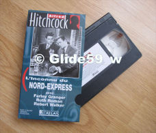 Alfred Hitchcock - L'inconnu Du Nord-Express - K7 Vidéo VHS Noir & Blanc - Version Française (Ed. Atlas) - Occasion - Action, Aventure