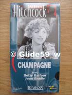 Alfred Hitchcock - Champagne - K7 Vidéo VHS Noir & Blanc - Muet (Ed. Atlas) - Neuve - Action, Aventure