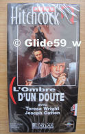 Alfred Hitchcock - L'ombre D'un Doute - K7 Vidéo VHS Noir & Blanc - Version Française (Ed. Atlas) - Neuve - Action, Aventure