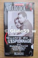 Alfred Hitchcock - Quatre De L'espionnage - K7 Vidéo VHS Noir & Blanc - Version Française (Ed. Atlas) - Neuve - Action, Aventure