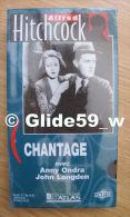 Alfred Hitchcock - Chantage - K7 Vidéo VHS Noir & Blanc - Version Française (Ed. Atlas) - Neuve - Action, Aventure