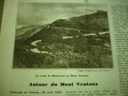 - Article De Presse - Régionalisme - Mont Ventoux - Malaucène  - 1936 - 3 Pages - Documents Historiques