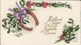 Carte De Voeux/Fer à Cheval, Gui Et Houx/circulée/ Vers 1935     CVE69 - Nouvel An