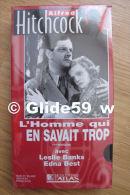 Alfred Hitchcock - L'homme Qui En Savait Trop - K7 Vidéo VHS Noir & Blanc - Version Française (Ed. Atlas) - Neuve - Action, Aventure