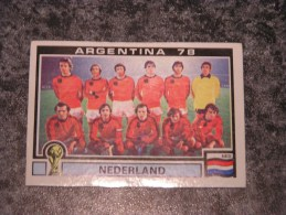 Hollande TEAM NEDERLAND World Cup Story Argentina 78 PANINI Original Sticker N° 118 Vignette Autocollante - Panini