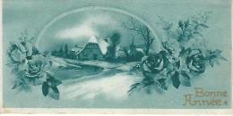 Carte De Voeux/Paysage De Neige Et Roses, Arc En Ciel /circulée/ 1937    CVE71 - Nouvel An
