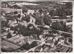 CHATEAUVIEUX 41 - Vue Aérienne : Le Chateau Et L'Eglise - CPSM Dentelée Noir Blanc GF RARE (0 Sur Le Site) Loir Et Cher - France