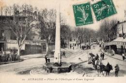412Cx    13 Aubagne Place De L'obelisque Et Cours Legrand - Aubagne