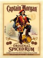 """0498 """"CAPTAIN MORGAN - ORIGINAL SPICED RUM -PREMIUM """"  ETICHETTA ADESIVA ORIGINALE. - Rhum"""