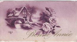 Carte De Voeux/Chalet Pont Et Roses /  Circulée/ Vers 1930    CVE74 - Nouvel An