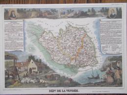 85 - Département De La VENDÉE - Carte Géographique Avec Statistiques. - France