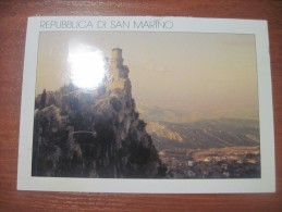 Repubblica Di San Marino. The First Tower. Postally Used. - San Marino