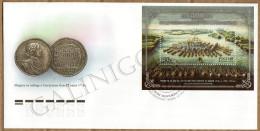 2014 Mi 2066 (Bl. FDC (canc. St.Petersburg) Russia Russland Russie Rusia Maritime Battle Of Gangut Art Painting Military - 1992-.... Fédération
