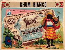 "0501 ""RHUM BIANCO ""  ETICHETTA ORIGINALE. - Rhum"