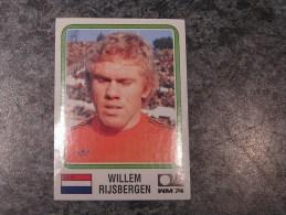 Hollande WILLEM RIJSBERGEN  World Cup Story 1974 Germany 74 PANINI Original Sticker N° 81 Vignette Autocollante - Panini