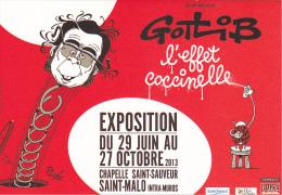 23494 BD - Gotlib L´effet Coccinelle - Exposition Saint-Malo France  Du 29 Juin Au 27 Octobre - Ville St M - Quai Bulles - Bandes Dessinées