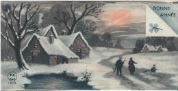 Carte De Voeux/Maisons Sous La Neige Et Déblayement /circulée//1935       CVE78 - Nouvel An