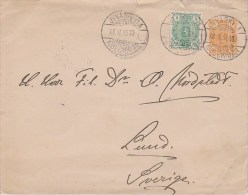 Finland; Uprated Postal Cover 1898 To Sweden - W. Ship Cancel - Enteros Postales